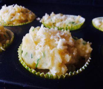 Kartoffel- und Spinatmuffins
