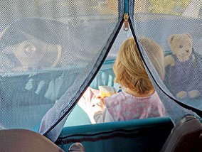 Camping mit Kindern: Babyschlafzelt