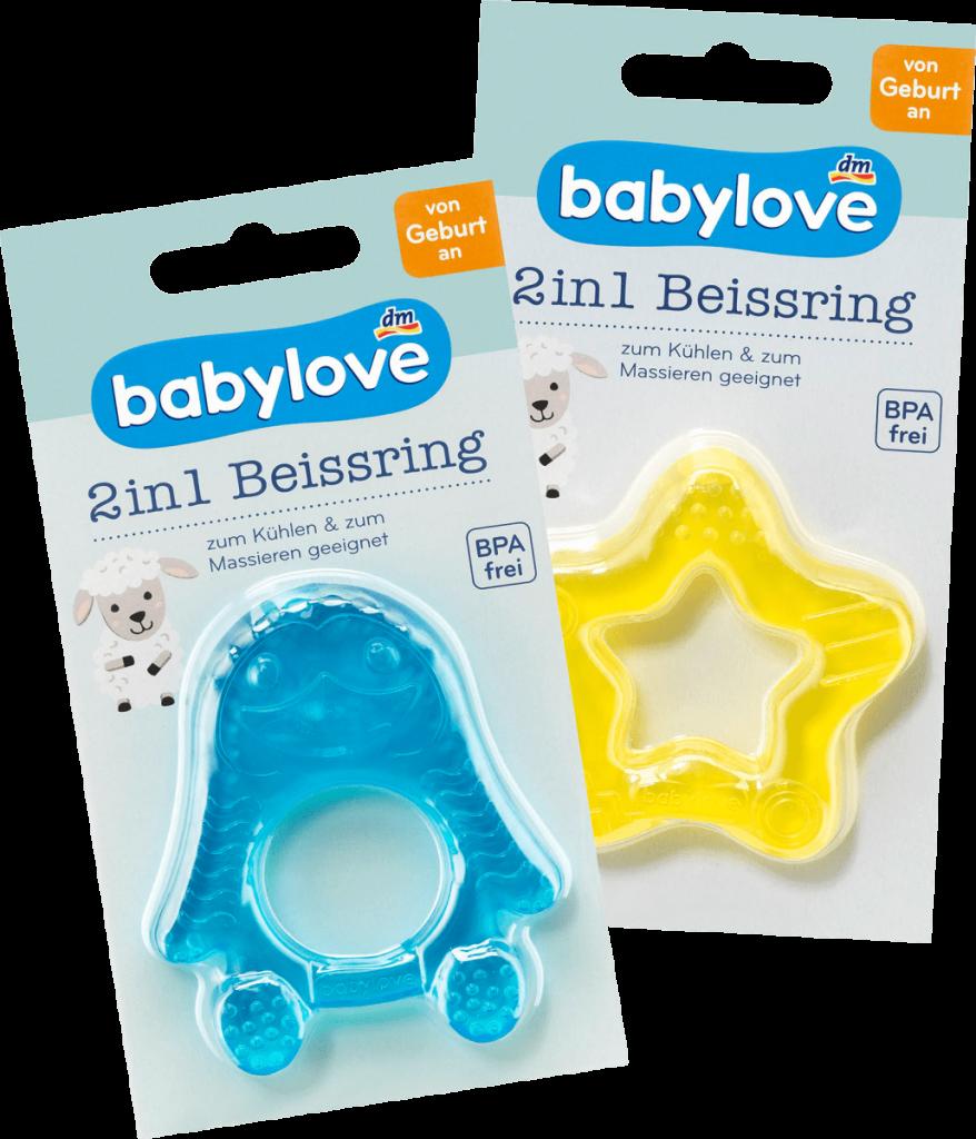 Wenn Babys zahnen: Babylove Beißring