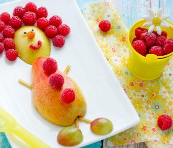 Essen für Kinder: Obstmännchen