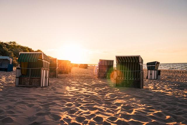 Urlaub mit Kindern in Deutschland: Strandkörbe Ostsee